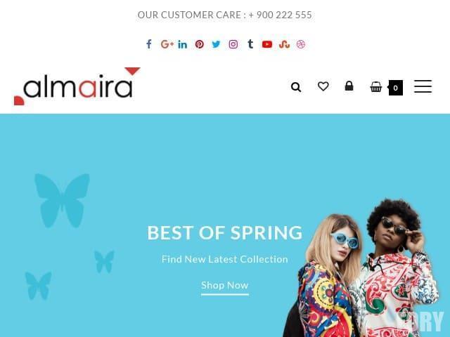 Almaira Shop - это легкая многофункциональная тема электронной коммерции