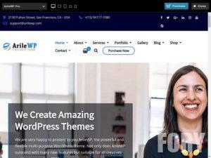 ArileWP - это мощная, современная и профессиональная многофункциональная тема WordPres.