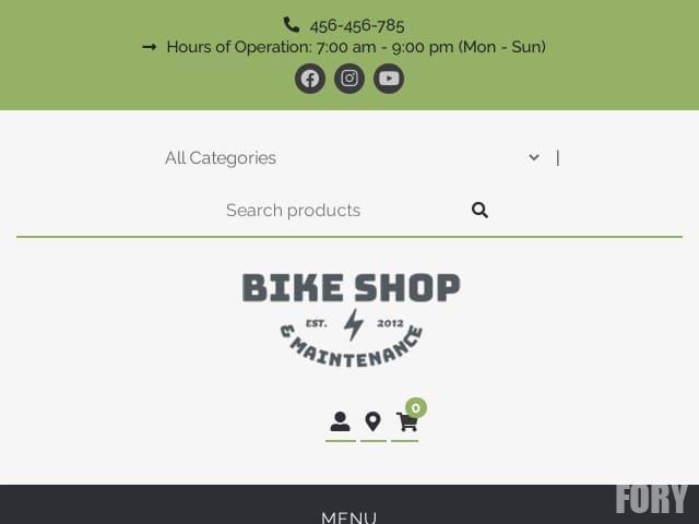 Bike Shop - шаблон wordpress