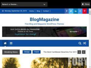 Тема для новинного сайту BlogMagazine