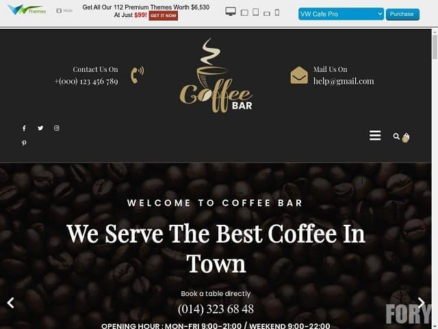 Cafe Coffee Shop - тема вордпресс для кафе, кафетерия или бара