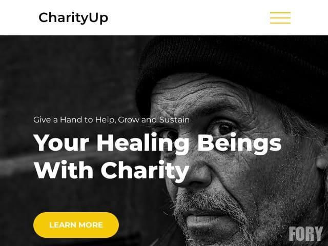 CharityUp - бесплатный шаблон WordPress
