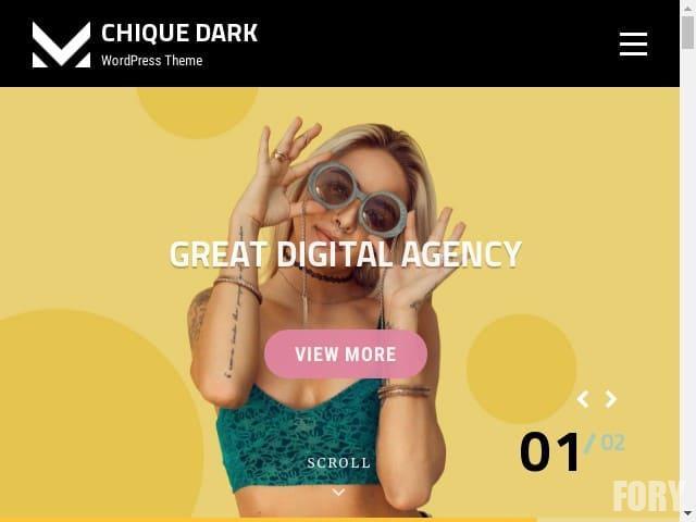 Chique Dark - тема WordPress