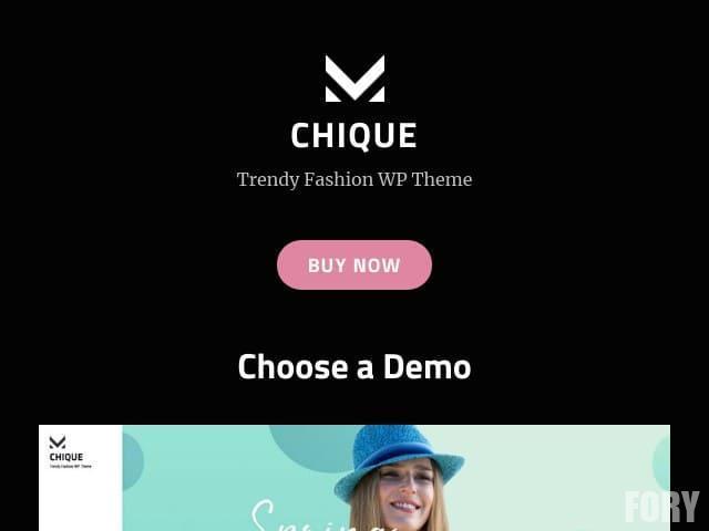 Chique - бесплатная адаптивная и модная тема WordPress для модных веб-мастеров