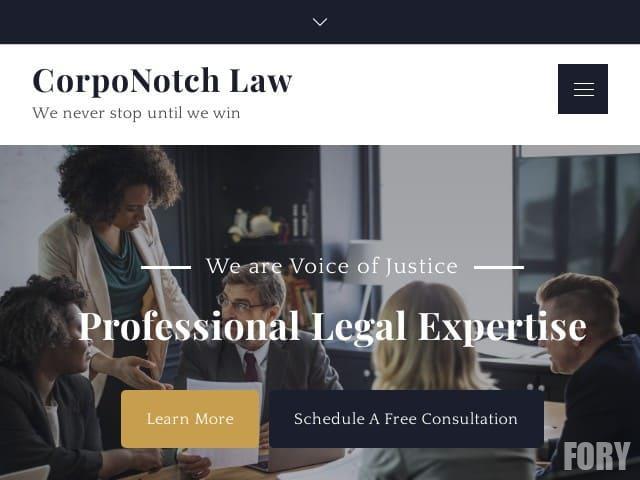 CorpoNotch Law - WordPress тема