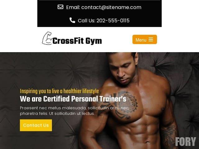 CrossFit Gym - WordPress шаблон