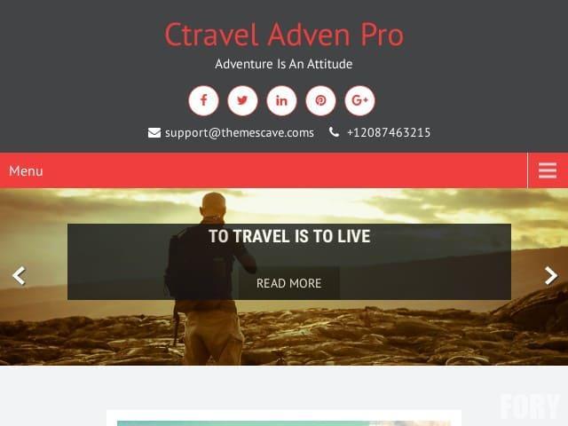 CTravel Adven Lite - бесплатная тема WordPress.