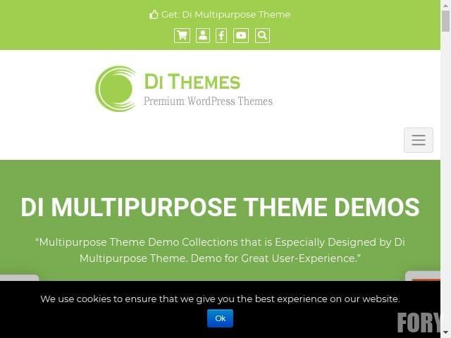 Di Multipurpose theme - это чистая и оптимизированная для SEO многоцелевая тема WordPress