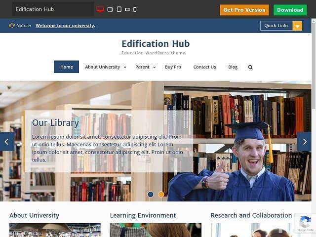 Edification Hub - адаптивная тема WordPress для образования, разработанная специально для образовательных сайтов