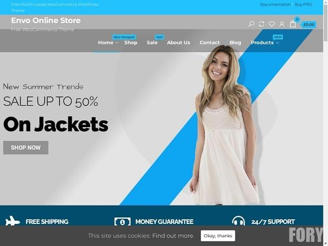 Envo Online Store - тема WP для сайта интернет магазина