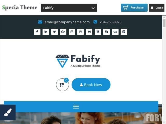 Fabify - тема WP