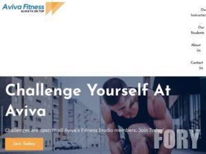 Тема WordPress - fitness