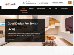 Flourish Lite от gracethemes WordPress