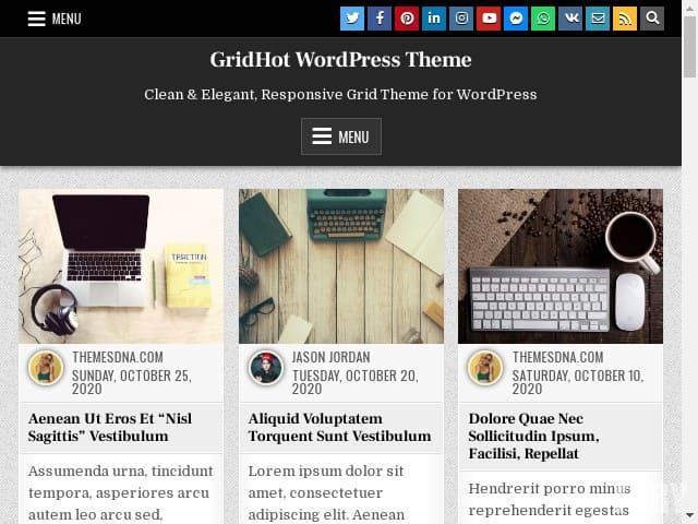 GridHot - WordPress тема