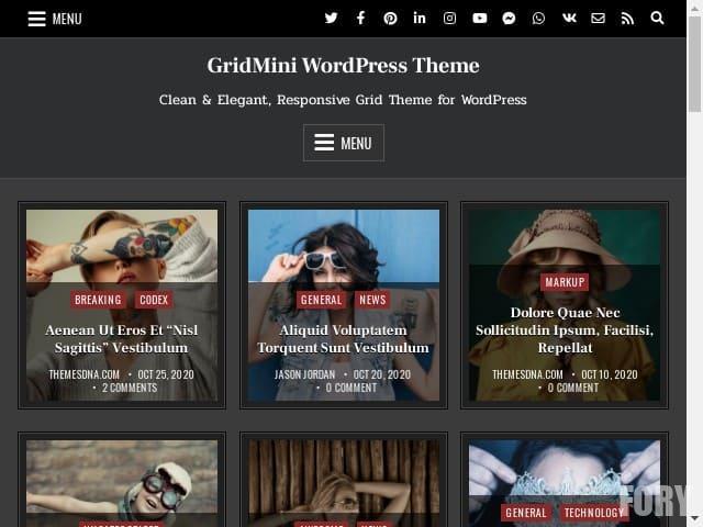Бесплатный шаблон WP GridMini