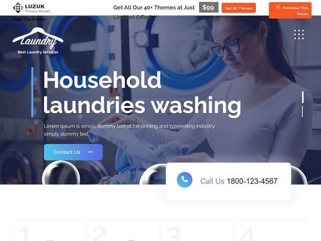 Laundry Master - тема вордпресс для клиннинговых компаний