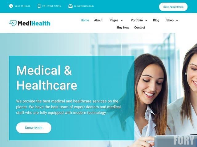 MediHealth - тема WP для сайта медицинской тематики