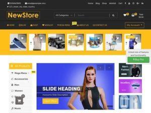 NewShop eCommerce является дочерней темой NewStore.