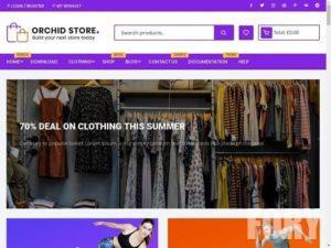 Orchid Store – это тема для интернет магазина.