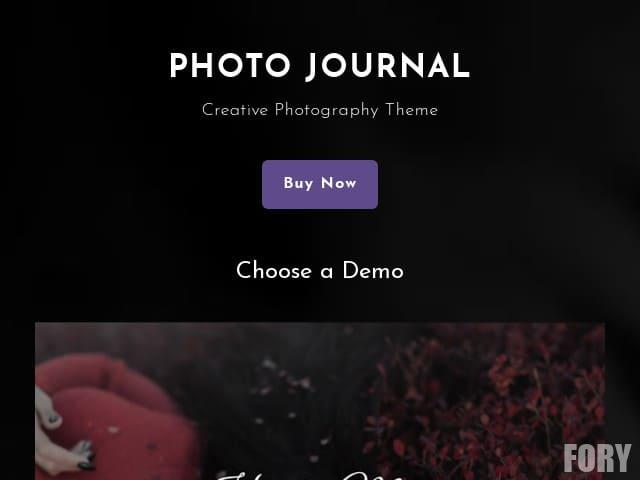 Photo Journal - бесплатная тема WordPress.
