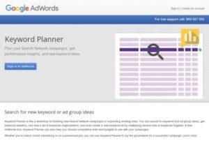 Етапи створення сайту, планувальник ключових слів