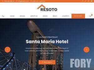 Resoto Hotel WordPress Theme - это идеальный шаблон для гостиничного бизнеса..