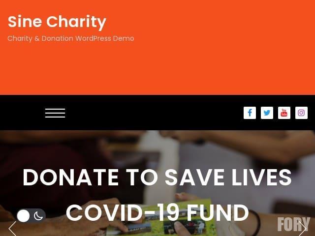 Sine Charity - бесплатная премиум тема WP