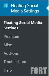 Соціальні медіа плаваючі значки Plug-in