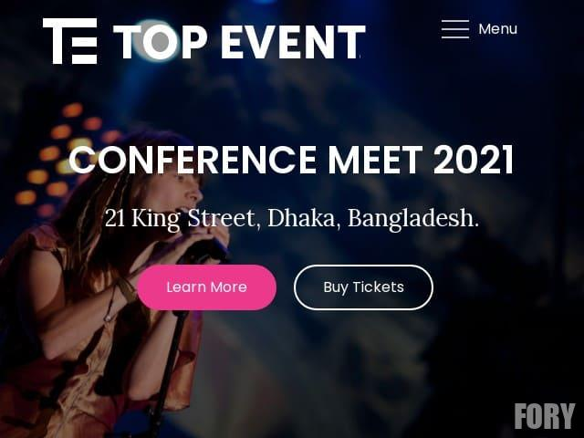 Top Event - WordPress тема
