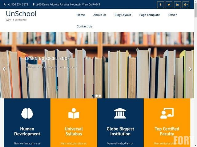 UnSchool - тема WP для учебного заведения и онлайн курсов